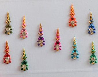 Bindi Self Adhesive Indian Dots Bollywood BellyDance Tattoo Body Art Wedding & Bridal Fashion Jewelry