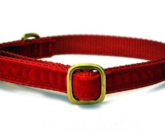 """3/4"""" Red Velvet Tag Collar"""