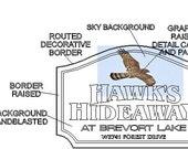 """Hawks hideaway half deposit (30"""")"""