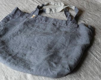 the signe washed linen bag  | tote bag | linen bag | beach bag | market bag | vintage inspired | french bag