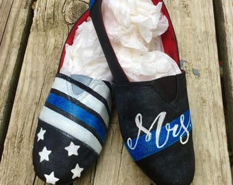 Thin Blue Line Shoes