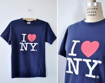 I Heart NY Tee S • New York T Shirt • Vintage Tee • 90s Tee • Cotton TShirt • New York Shirt • Graphic Tee  | T817
