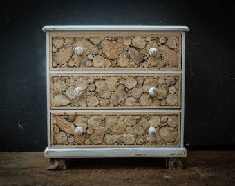 Three drawer chest Driftwood,  Driftwood Chest of Drawers, Driftwood and Pine Chest, Driftwood Bedroom Furniture, Beach, Sea Side Furniture