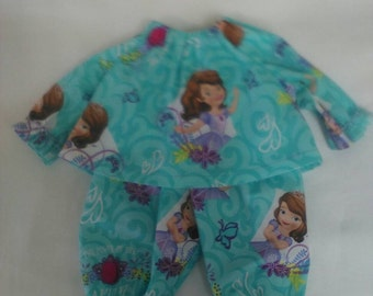 "Baby Alive  And Waldorf Doll Clothes Disney Sofia The First Pajamas 10"" 12"" 15"""