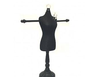 Black Display Body Form W/Arms for Jewelry