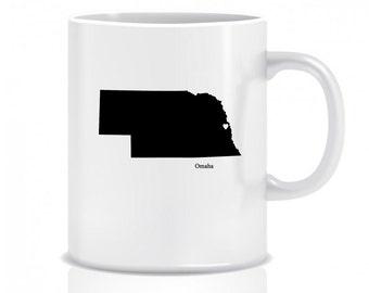 Nebraska Hometown, Coffee Mug, Custom, Custom Mug, Coffee Cup, Custom Coffee Cup