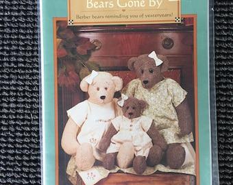 Cute Bears Gone By Sewing Pattern Vanilla House Berber Fleece Bears Dress