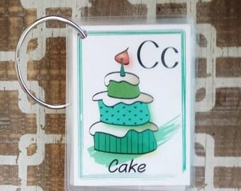 Alphabet Flash card - ABC Flashcard - Alphabet Flashcard - ABC Flash Card - Laminated ABC - Educational Toy - Under 20 - Baby Shower Gift