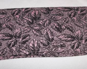 Black Floral Retro Pink Fabric Print Checkbook Cover Coupon Holder Clutch Purse Billfold Ready-Made