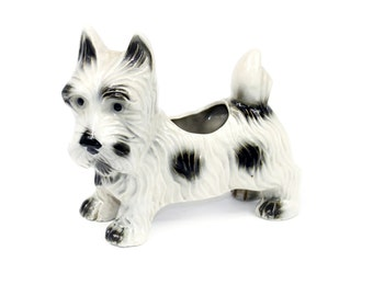 Vintage Scottish Terrier Scottie Dog Planter Made in Japan