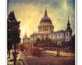 St Paul's at dusk - Grunged Photographic Print by Doug Armand on Etsy - DAIP0059