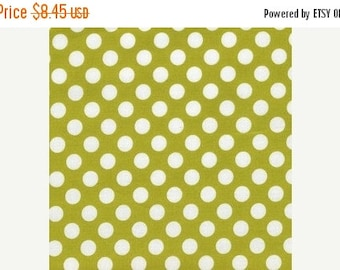 Christmas Sale Michael Miller Fabric - 1 Yard Celery Ta Dot
