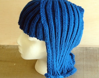 Peacock Blue  Hat Hair Knit Wig Anime hair