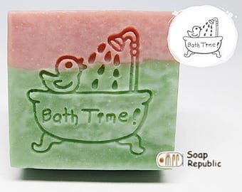 FREE SHIPPING! SoapRepublic Bath time Acrylic Soap Stamp / Cookie Stamp / Clay Stamp