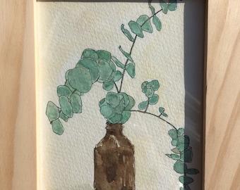 Eucalyptus Watercolor painting