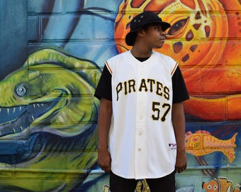 RARE Baseball Jersey - Stitched Zachary Duke Pittsburgh Pirates Sleeveless Authentic MAJESTIC Jersey. Sz 52