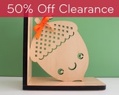 SALE! CLEARANCE 50% OFF! Acorn Wood Bookend Modern Baby Nursery Children