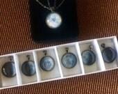Moon phase necklace set, OOAK custom space box