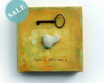 Gift for mother  Unique Handmade - genuine heart shaped rock - S9