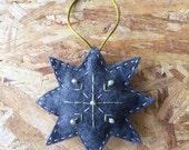 Grey Felt Star Ornament