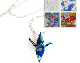 Origami Crane Necklace Small Flowers Paper Choices Too Peace Crane Necklace