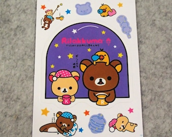 Mixed Cute PVC Cute Rilakkuma Stickers - R01