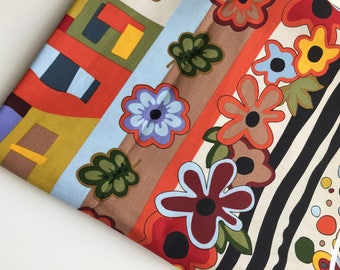 Luella Doss Hot Flash Quilting Fabric, Multi-Stripe, OOP, HTF