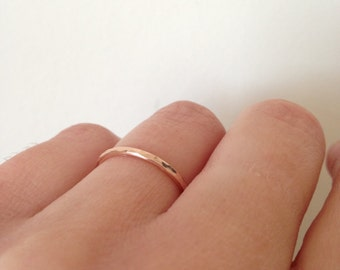 Solid rose gold ring, 9ct wedding band, hallmarked ring, solid gold, dainty ring, wedding, gift for her
