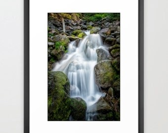 Nature Photography, Waterfall, Fine Art Photography, Green, Nature Photography, fPOE (6 sizes)