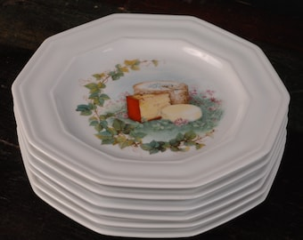 CNP France, Cheese Plates, Set of 6