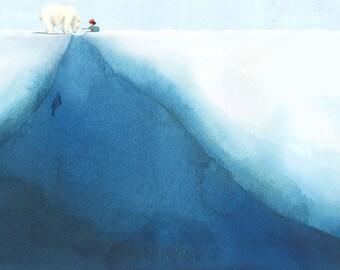 The Polar Bear - giclee print