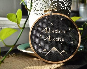 Adventure Awaits Cross Stitch