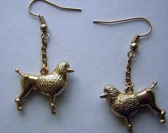 Vintage Poodle Dog Earrings - Upcycled Rescue - Destash Doggy CLEARANCE