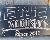 Personalized Workshop Sign, Man Cave Sign, Garage Signs, Custom Wood Signs, Gift For Him, Fathers Day Gift, Custom Name Sign,