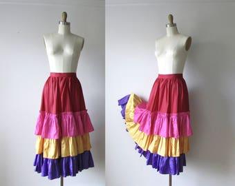 SALE vintage ruffle skirt