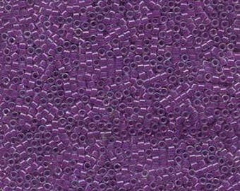 5g DB073 Miyuki Delica Bead Lined Lilac AB