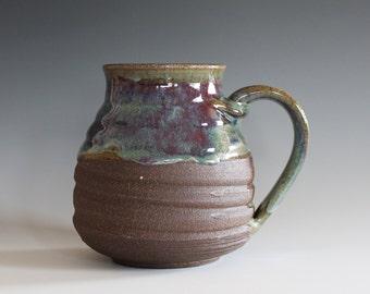 LARGE Mug, 25 oz, ceramic cup, handthrown mug, stoneware mug, pottery mug, unique coffee mug, ceramics and pottery