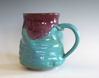 Pottery Coffee Mug, 15 oz, handmade ceramic cup, ceramic stoneware mug, coffee cup