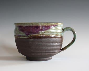 Cappuccino Mug, 30 oz, Pottery Coffee Mug, handmade ceramic soup bowl, handthrown ceramic stoneware pottery mug, unique coffee mug