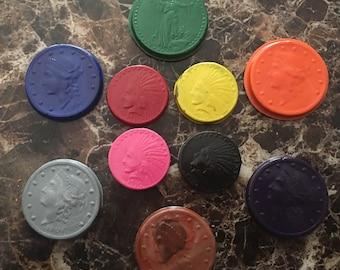 Coin crayons