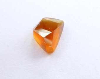 Orange Garnet Hessonite  Faceted Cabochon. Natural Gemstone. Geometric Tavernier Cut Rock Candy Gem Cab. 1 pc. 5.01 cts. 12x8x6 mm (GA961)