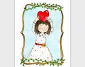 PRINTED CARD Woodland Girl