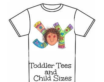 LillieGiggles Toddler T-shirts Children T-shirts JOY 100% cotton tees
