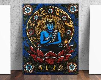 Buddha Lotus Buddhist Art Print by Catherine Dolch