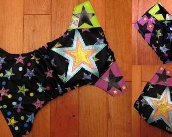 Glitter Star AI2/Pocket One Size Cloth Diaper