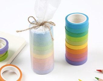 10 Rolls Beautiful Multi-Function Adornment Masking Tape Washi tape