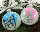 Baby Gender Reveal Christmas Ornament, Christmas Gift, Baby Shower, It's A Boy, It's A Girl, Baby Boy Ornament, Baby Girl Ornament