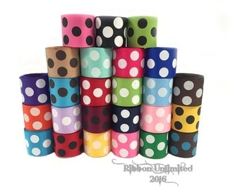 50 Yards 1.5 Inch Jumbo Polka Dots COLORS.