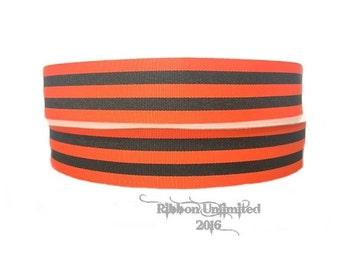 10 Yards Wholesale 1.5 Halloween Preppy Stripe Grosgrain Ribbon LOW Shipping Cost