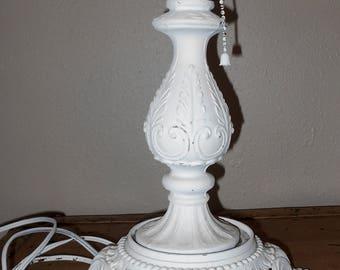 White Lamp Stand - Shabby Chic